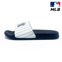 MLB 슬리퍼 뉴욕 양키스 스트라이프 (화이트/네이비)