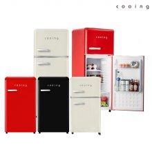 하이마트 배송! 레트로 스타일리쉬 냉장고 퓨어레드 / REF-S92R