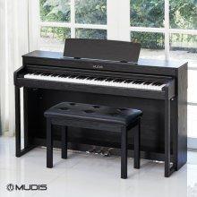 [블랙 5/11, 화이트 5/6부터 순차배송][뮤디스]전자 디지털피아노  MF-300+2인용의자 해머액션건반
