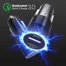 퀄컴 퀵차지3.0 듀얼 차량용 고속 충전기(QC3.0+QC3.0)