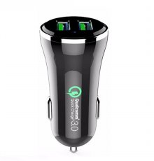 USB 2포트 시거잭 고속 충전기 EZ-Q36 [화이트/블랙]