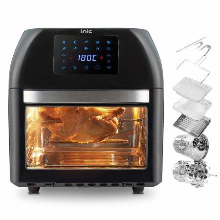 스텐 대용량 에어프라이어 오븐 16L 로티세리 (블랙)