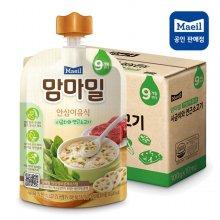 맘마밀 안심이유식 9개월 시금치와연근소고기 10팩
