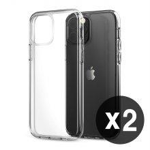 1+1 에어클로 갤럭시S7 핸드폰 투명 케이스 (2개)