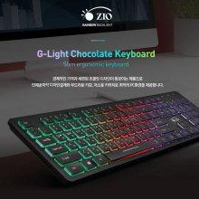 PC용품 ZIO G-LIGHT USB 쵸콜릿 유선 키보드
