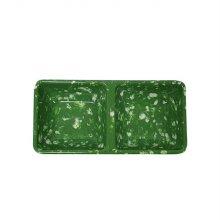 녹두 멜라민 분식 사각 2칸 종지 종지 소스그릇