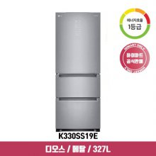 디오스 스탠드형 김치냉장고 K330SS19E (327L, 샤이니 퓨어, 1등급)