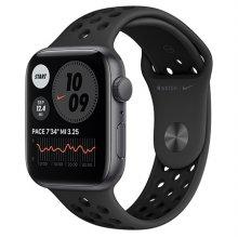 애플워치 SE Nike GPS 44mm스페이스 스페이스그레이 알루미늄 케이스 안드라사이트블랙나이키스포츠밴드