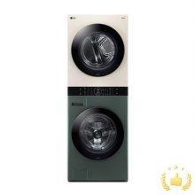 워시타워 오브제 컬렉션 W16GE.AKOR [세탁기24KG + 건조기16KG/원바디 플랫 디자인/원바디 런드리 컨트롤/건조 준비기능/드럼-그린,건조기-베이지]