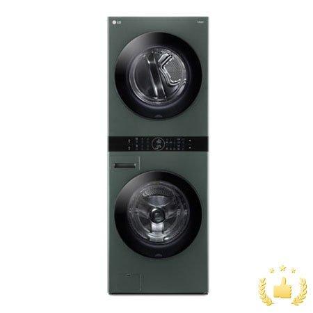 워시타워 오브제 컬렉션 세탁기(24kg)+건조기(16kg) 세트 W16GG (원바디 플랫 디자인, 원바디 런드리 컨트롤, 건조 준비기능, 네이처그린)