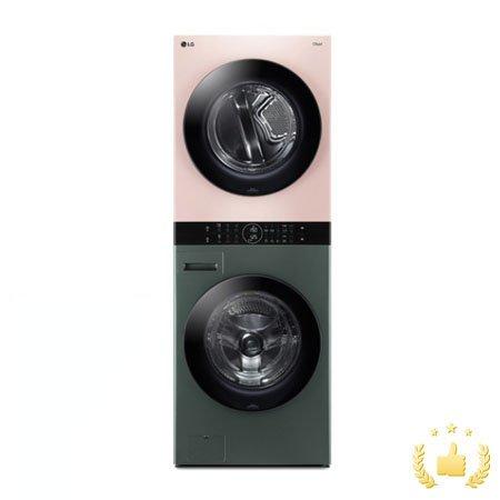 워시타워 오브제컬렉션 W16GP.AKOR [세탁기24KG + 건조기16KG/원바디 플랫 디자인/원바디 런드리 컨트롤/건조 준비기능/드럼-그린,건조기-핑크]