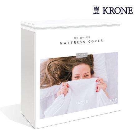 크로네 프리미엄 텐셀 침대 방수커버 (화이트/35cm/킹)
