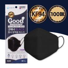 굿매너 대형 KF94 마스크 블랙 100매