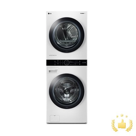 워시타워 세탁기(24kg)+건조기(17kg) 세트 W17WT (원바디 플랫 디자인, 원바디 런드리 컨트롤, 트루스팀건조, 인공지능DD, 릴리 화이트)