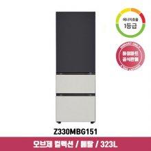 오브제 컬렉션 김치냉장고 Z330MBG151 (323L / 블랙+그레이 / 1등급)