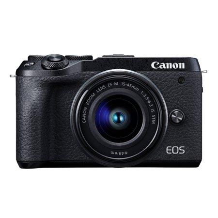 [정품]캐논 EOS M6 MarkⅡ 미러리스 카메라  렌즈키트[블랙][본체+15-45mm][16GB메모리증정]