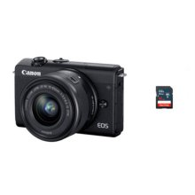 [16G메모리 증정][정품]캐논 EOS-M200 미러리스 카메라 렌즈키트[블랙][본체+15-45mm IS STM]