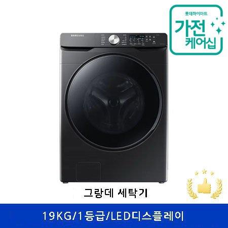 [AS연장+케어2회][AR체험] 드럼 세탁기 WF19T6000KV [19KG/버블워시/무세제통세척/초강력워터샷/스마트컨트롤/블랙케비어]