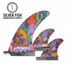 [실버피쉬] SILVERFISH 서핑보드 3핀 Pink Flower