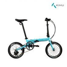 키후 퀵커 D3 접이식 자전거 블루 (완조립)