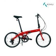 키후 포스 D7 접이식 자전거 레드 (완조립)