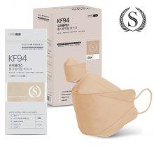 슈퍼클래스 KF94 스타일 컬러마스크 대형 베이지 30매