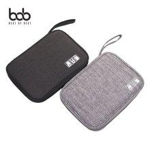 bob 방수 페브릭 디지털ACC 멀티수납 휴대용 파우치