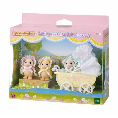 [한정판] 5601-아기 오리 세쌍둥이 유모차
