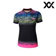 MAXX 배드민턴 여자 반팔 트레이닝 티셔츠 블랙1