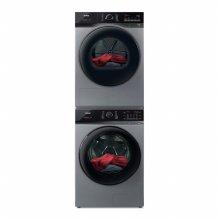 드럼 세탁기(23kg)+건조기(17kg) 세트 TMWM230-KSK+HGXH170-KSK (직렬설치, 메탈릭 그레이)
