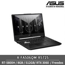[5/21이후 순차배송] 에이수스 터프게이밍 A-FA506QM-R5725 노트북 R7-5800H 8GB 512GB RTX3060 프리도스 15inch (그레파이트 블랙)