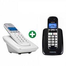 모토로라 무무선전화기 본체 S3001A+증설용 S3001AH/화이트 블랙
