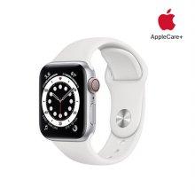 [Applecare+] 애플워치 6 GPS+Cellular 40mm 실버 알루미늄 케이스 화이트스포츠밴드