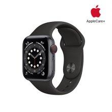 [Applecare+] 애플워치 6 GPS+Cellular 40mm 스페이스그레이 알루미늄 케이스 블랙스포츠밴드