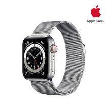 [Applecare+] 애플워치 6 GPS+Cellular 40mm 실버 스테인리스 스틸 케이스 실버밀레니즈루프