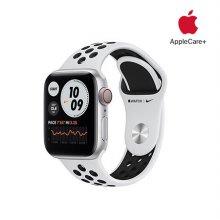 [Applecare+] 애플워치 6 Nike GPS+Cellular 40mm 실버 알루미늄 케이스 퓨어플래티넘블랙나이키스포츠밴드