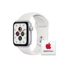 [Applecare+] 애플워치 SE GPS 40mm 실버 알루미늄 케이스 화이트스포츠밴드