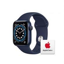 [Applecare+] 애플워치 6 GPS 40mm 블루 알루미늄 케이스 딥네이비스포츠밴드