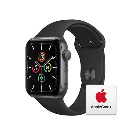 [Applecare+] 애플워치 SE 44mm GPS 스페이스그레이 알루미늄 케이스 블랙스포츠밴드
