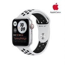 [Applecare+] 애플워치 SE Nike GPS+Cellular 44mm 실버 알루미늄 케이스 유어플래티넘블랙나이키스포츠밴드