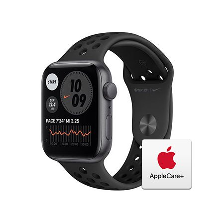[Applecare+] 애플워치 SE Nike GPS 44mm스페이스 스페이스그레이 알루미늄 케이스 안드라사이트블랙나이키스포츠밴드