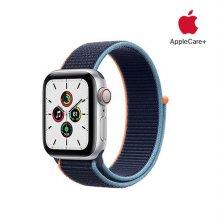 [Applecare+] 애플워치 SE GPS+Cellular 40mm 실버 알루미늄 케이스 딥네이비스포츠루프