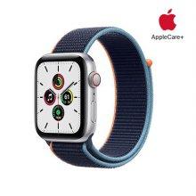 [Applecare+] 애플워치 SE GPS+Cellular 44mm 실버 알루미늄 케이스 딥네이비스포츠루프