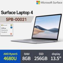 [오피스] 마이크로소프트 서피스랩탑4 5PB-00021 노트북 AMD R5-4680U 8GB 256GB Win10H 13.5inch (플래티넘)