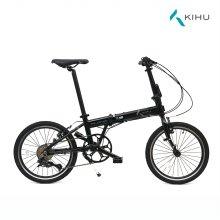 키후 플레임 KIHU FLAME 리얼 블랙 접이식 자전거 (완조립)