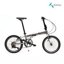 키후 플레임 KIHU FLAME 모노 실버 접이식 자전거 (완조립)