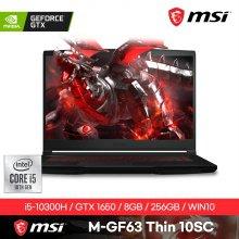 [즉시배송] M-GF63-THIN-10SC 게이밍노트북 인텔10세대i5 8GB 256GB GTX1650 Win10H 15.6inch
