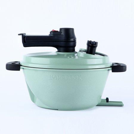[최상급 리퍼상품 단순변심] 램프쿡 자동회전냄비 일립스 미니(Green)