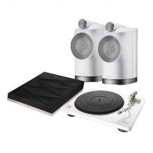 B&W Formation Duo(White) + Audio + Denon DP-400(White)