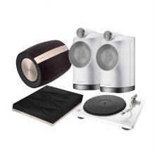 B&W Fomration Duo(White) + Bass + Audio+ Denon DP-400(White) 패키지